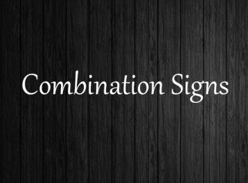 Combination Signs