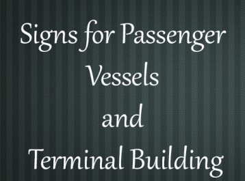 Signs for Passenger Vessels and Terminal Building